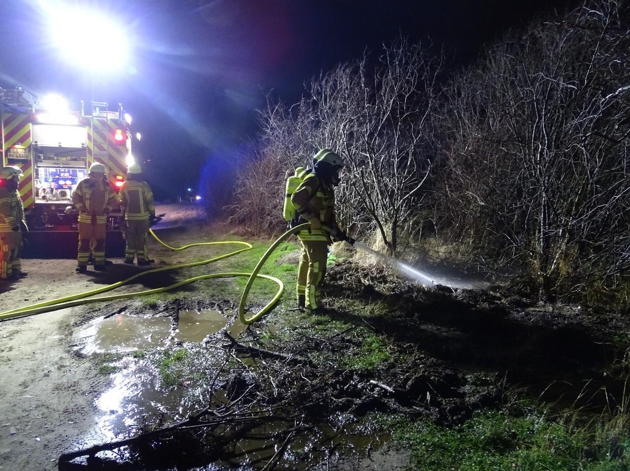 Feuerwehreinsatz am Weißberg