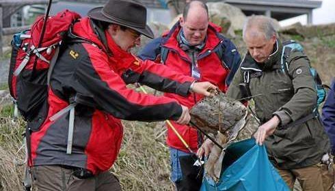 Geocacher sammeln Müll im Harz