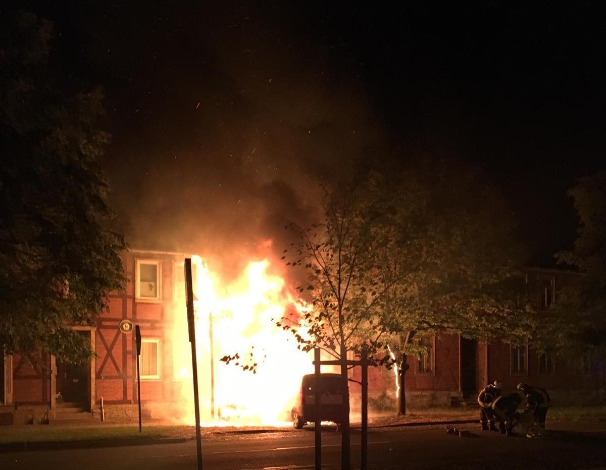Haus wird ein Raub der Flammen