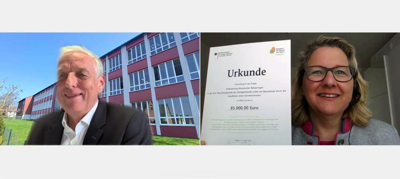 Spendable Bundes-Umweltministerin