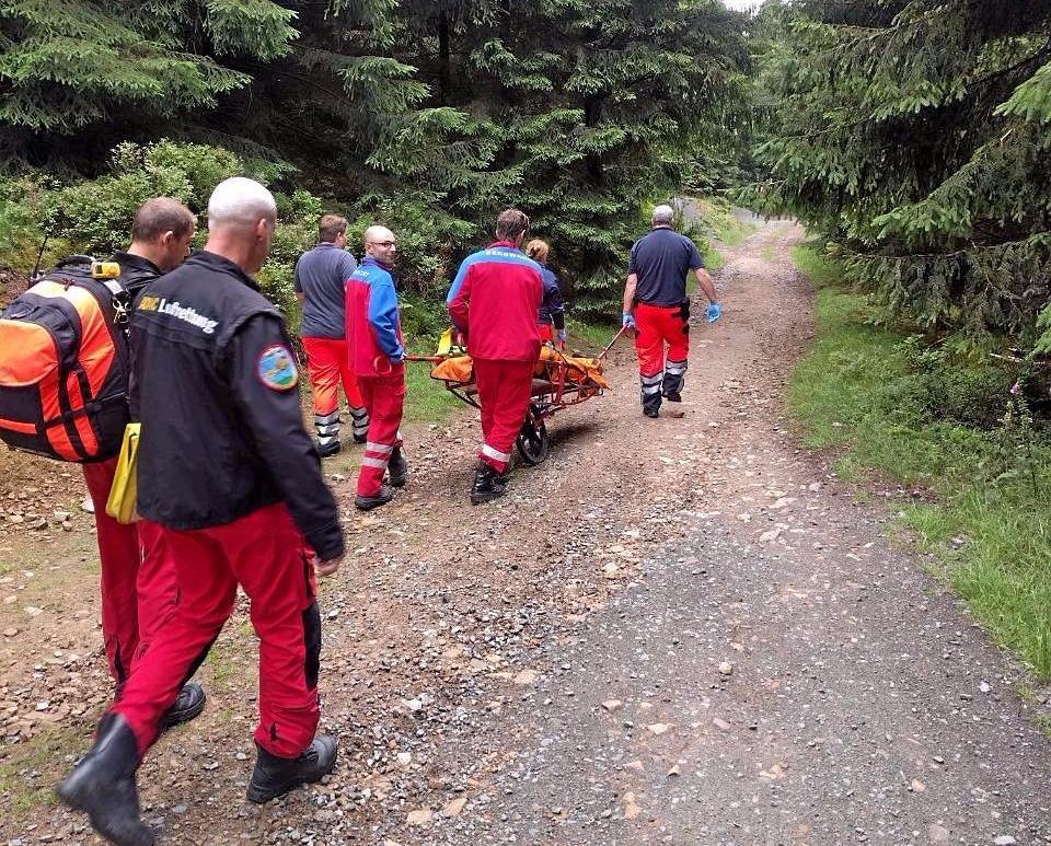 Bergwachtgruppe rettet Mountainbiker