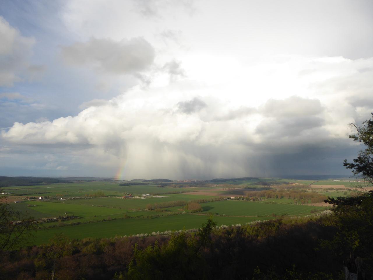 Regen über Quedlinburg