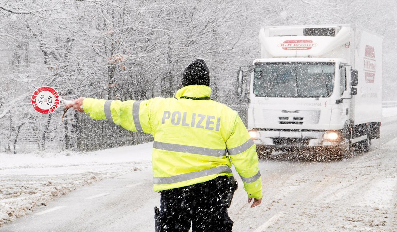 """""""Egon"""" legte vorübergehend den Lkw-Verkehr im Harz lahm"""