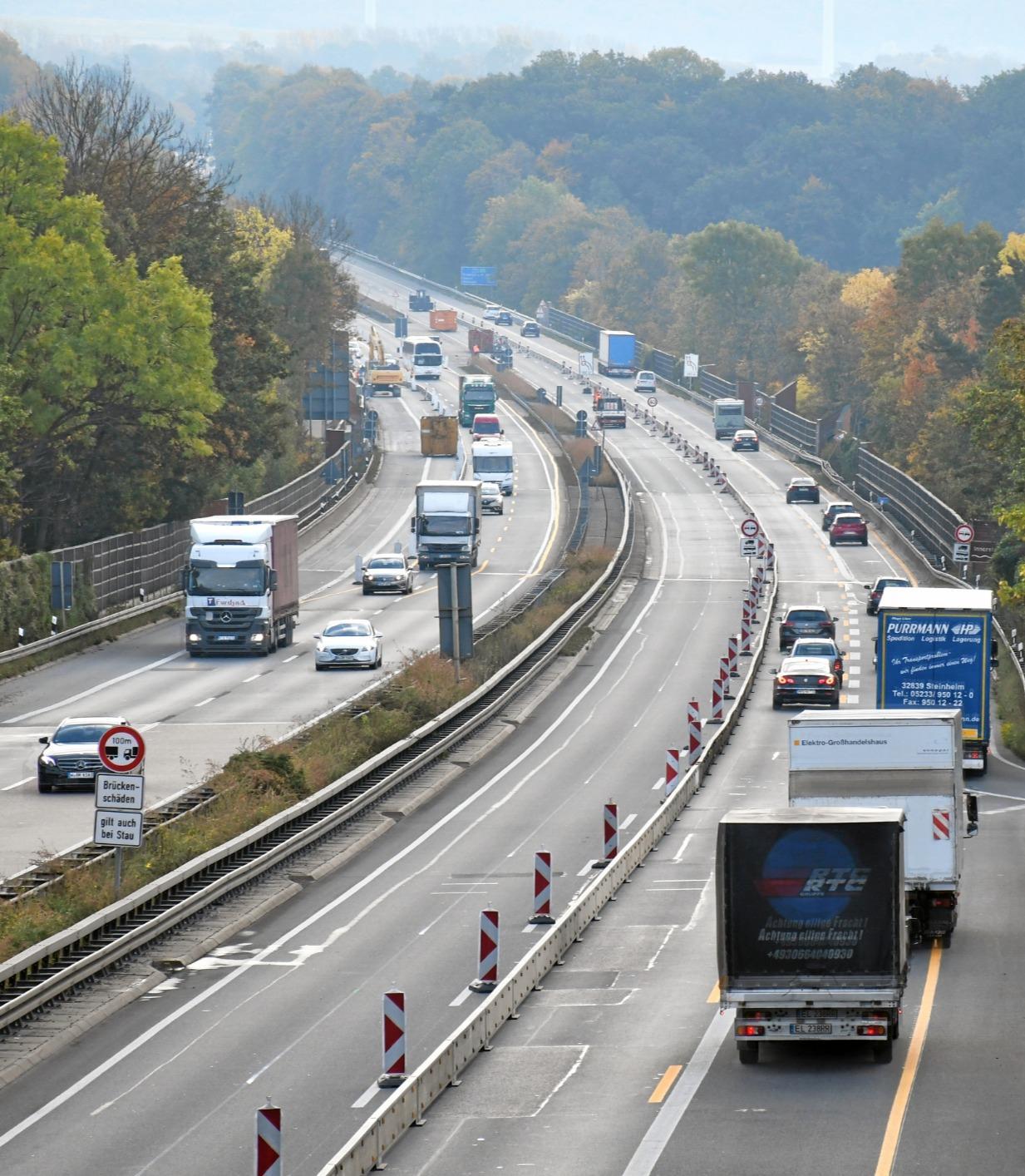 Nächtliche Sperrung der Autobahn