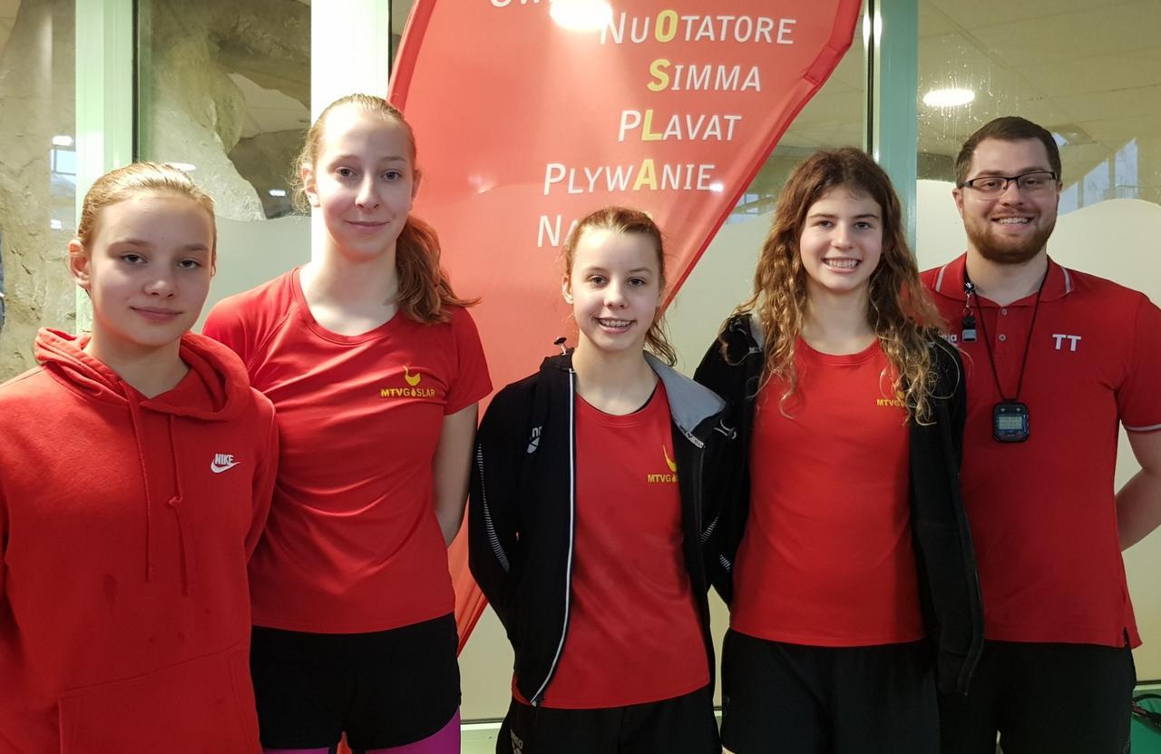 Schwimmerinnen Zweite beim Landesentscheid