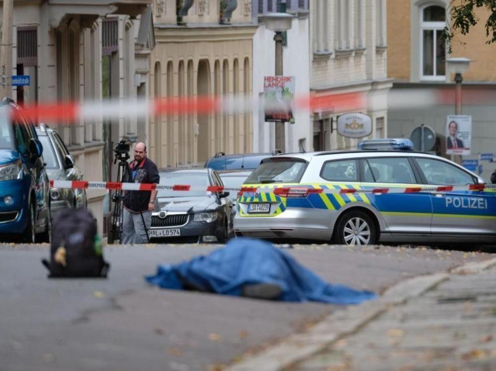 Zwei Menschen in Halle erschossen