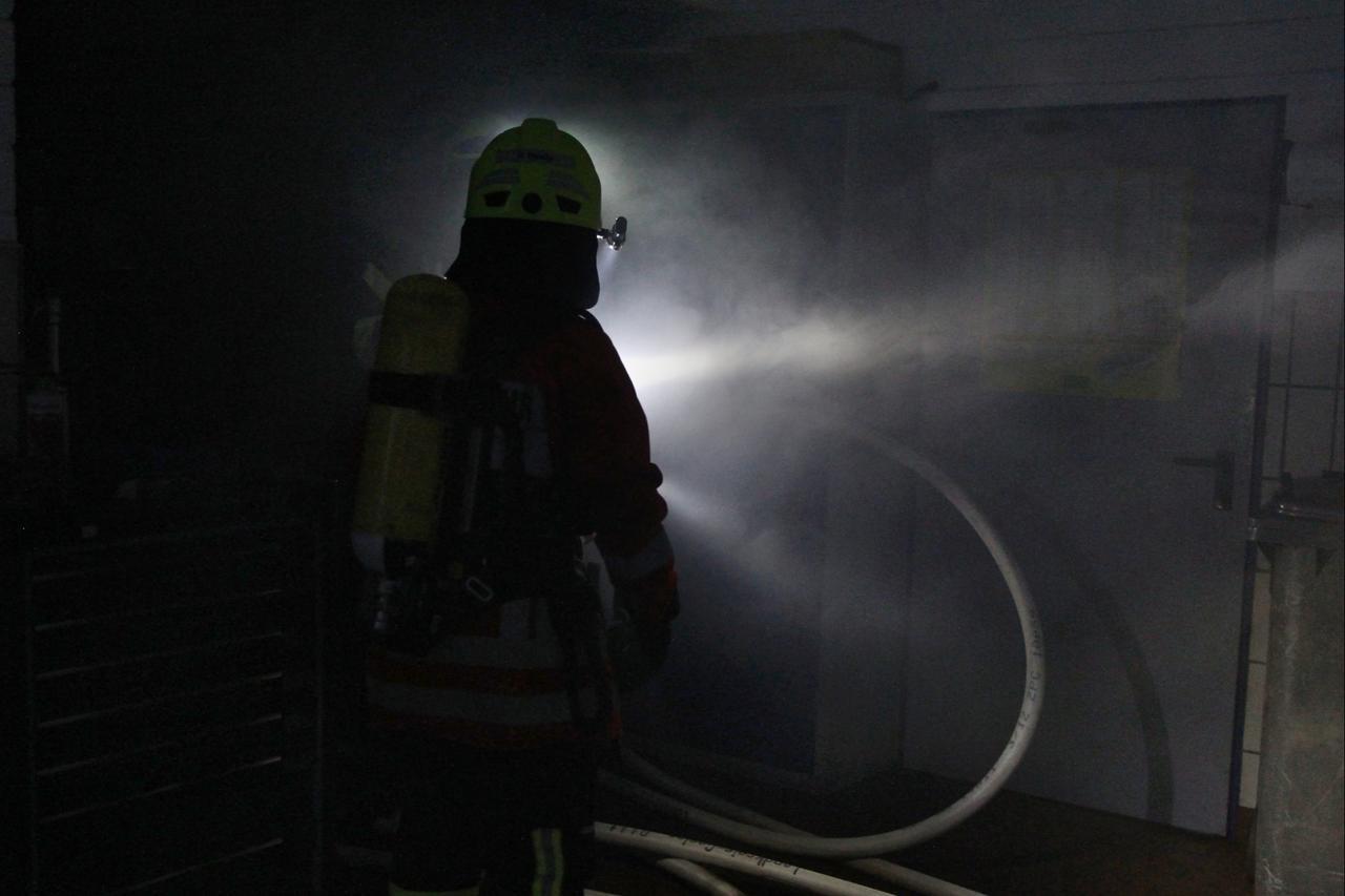 Fünf Feuerwehren üben gemeinsam