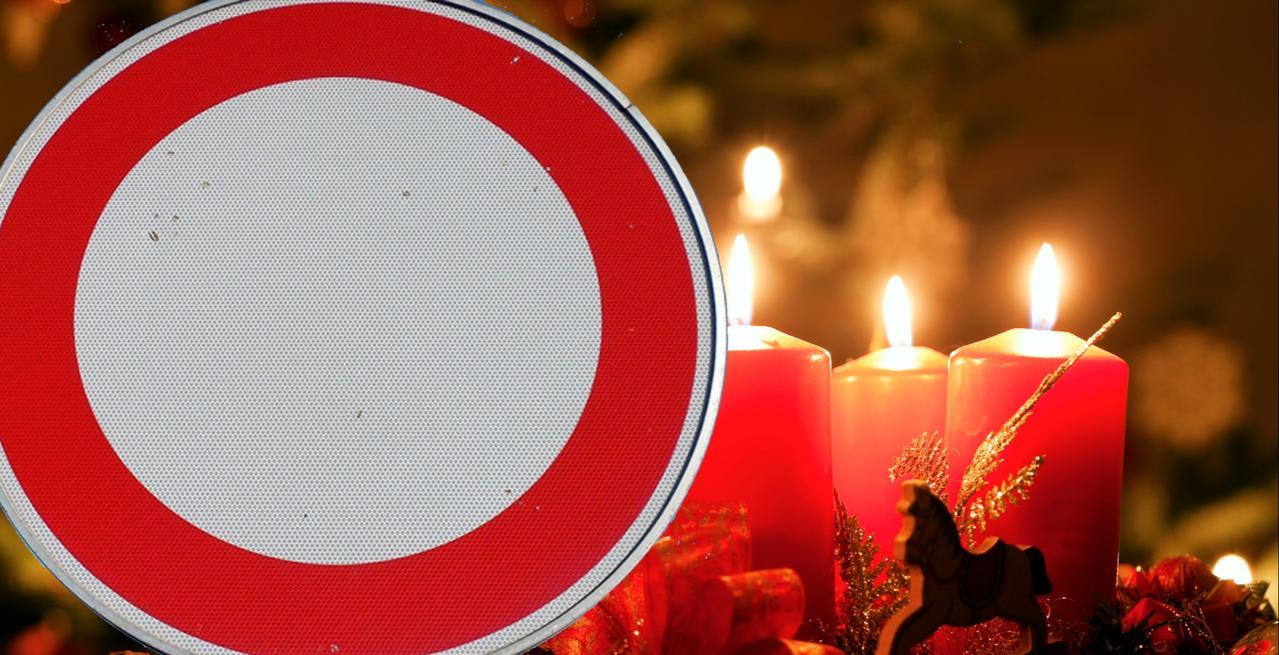 Straßensperrung beim Weihnachtsmarkt