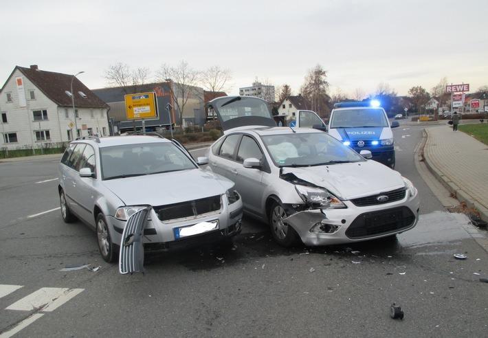 Zwei Verletzte nach Zusammenstoß