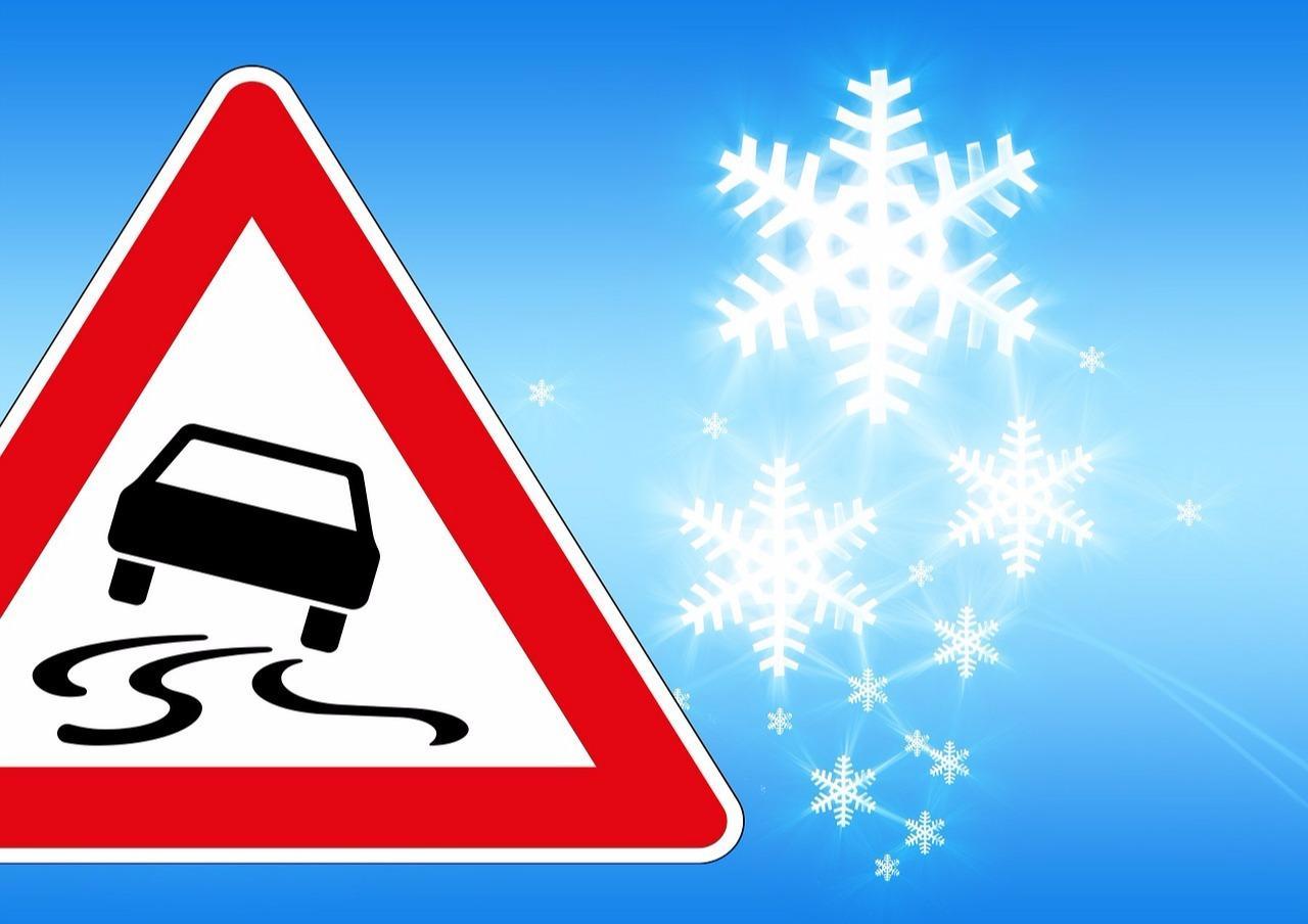 Glätte-Warnung: Vorsichtig fahren