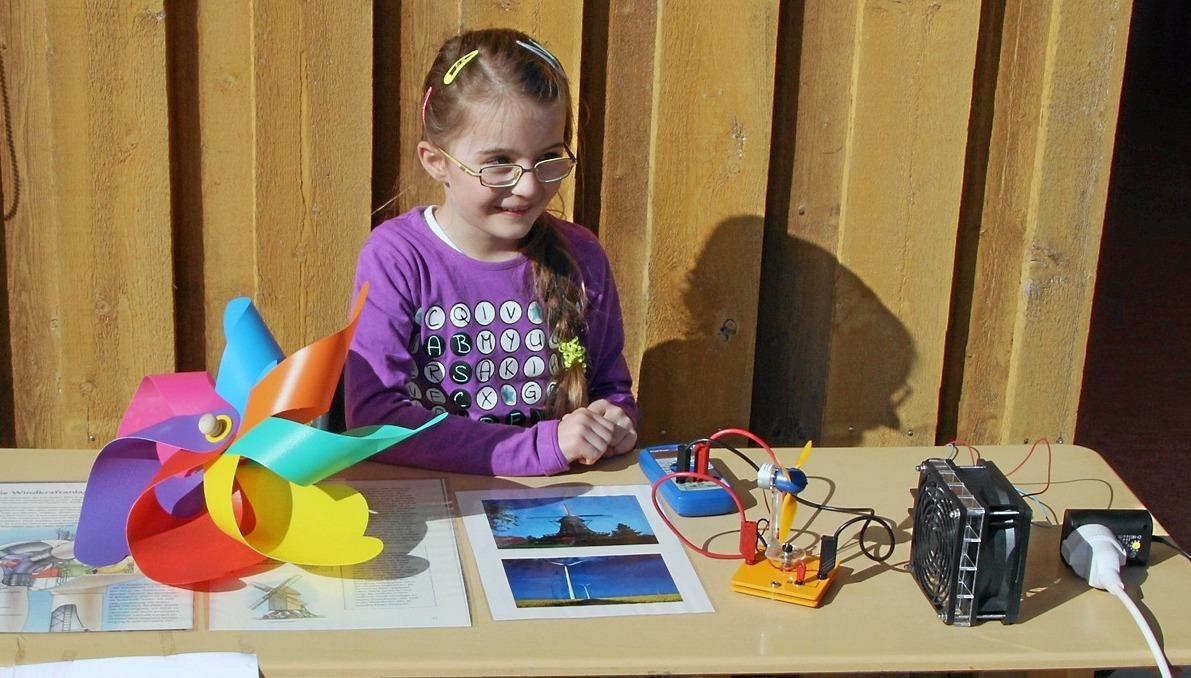 Kinder befassen sich mit Thema Energie