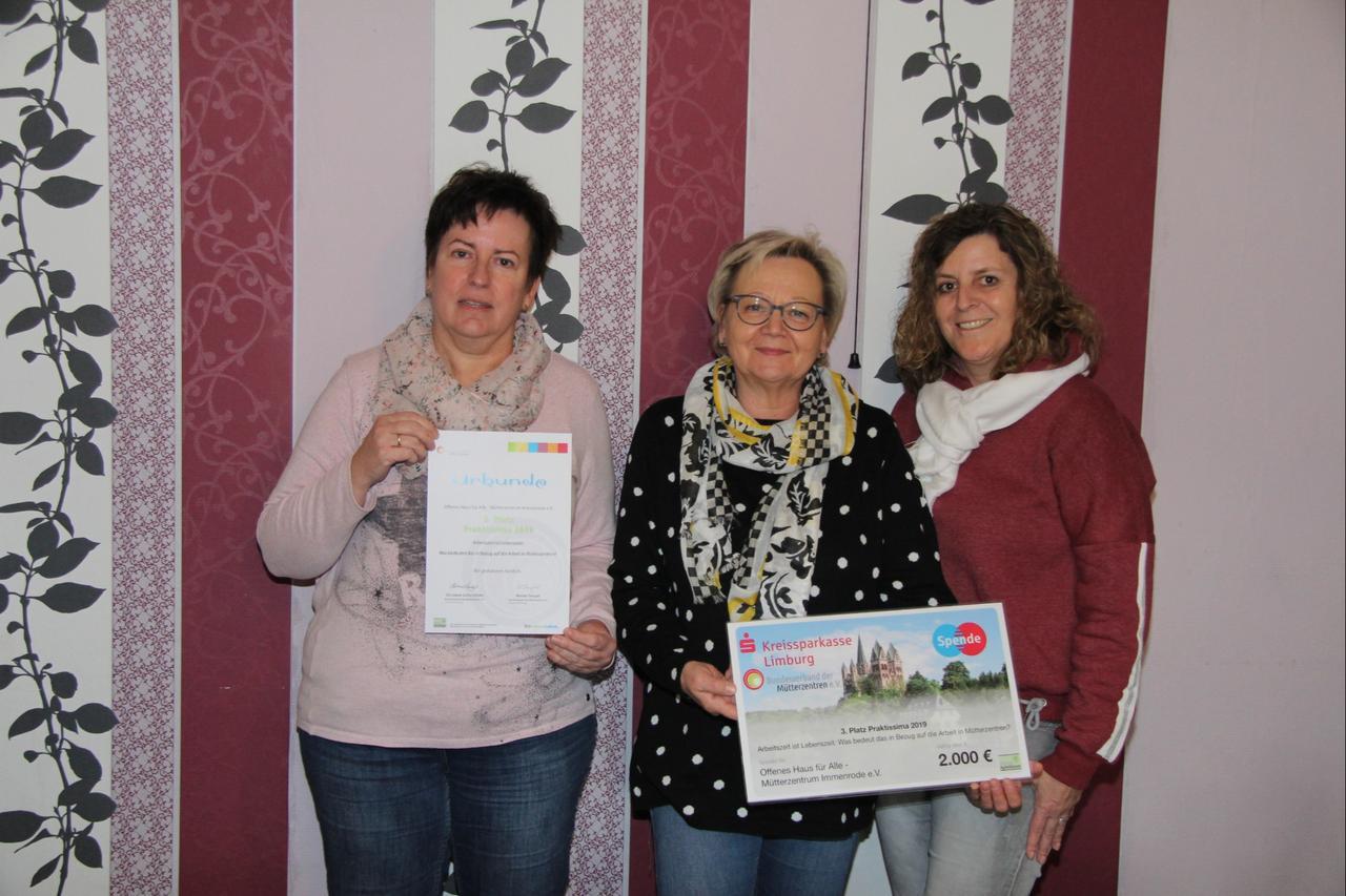 Auszeichnung für das Mütterzentrum