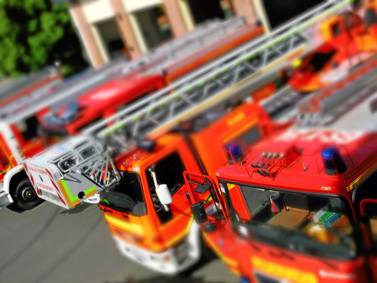 Feuerwehr kam mit Drehleiter zur Hilfe