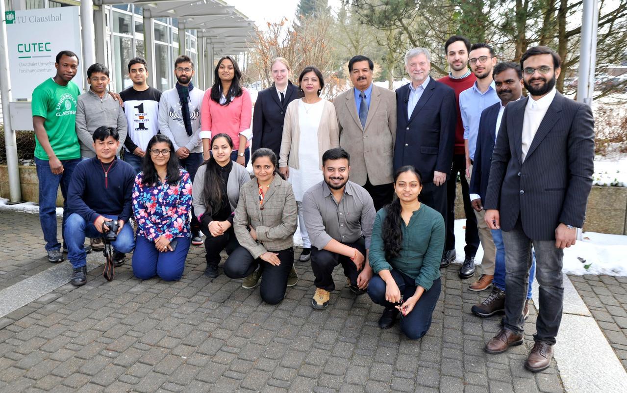 Ausländische Studierende besuchen die TU