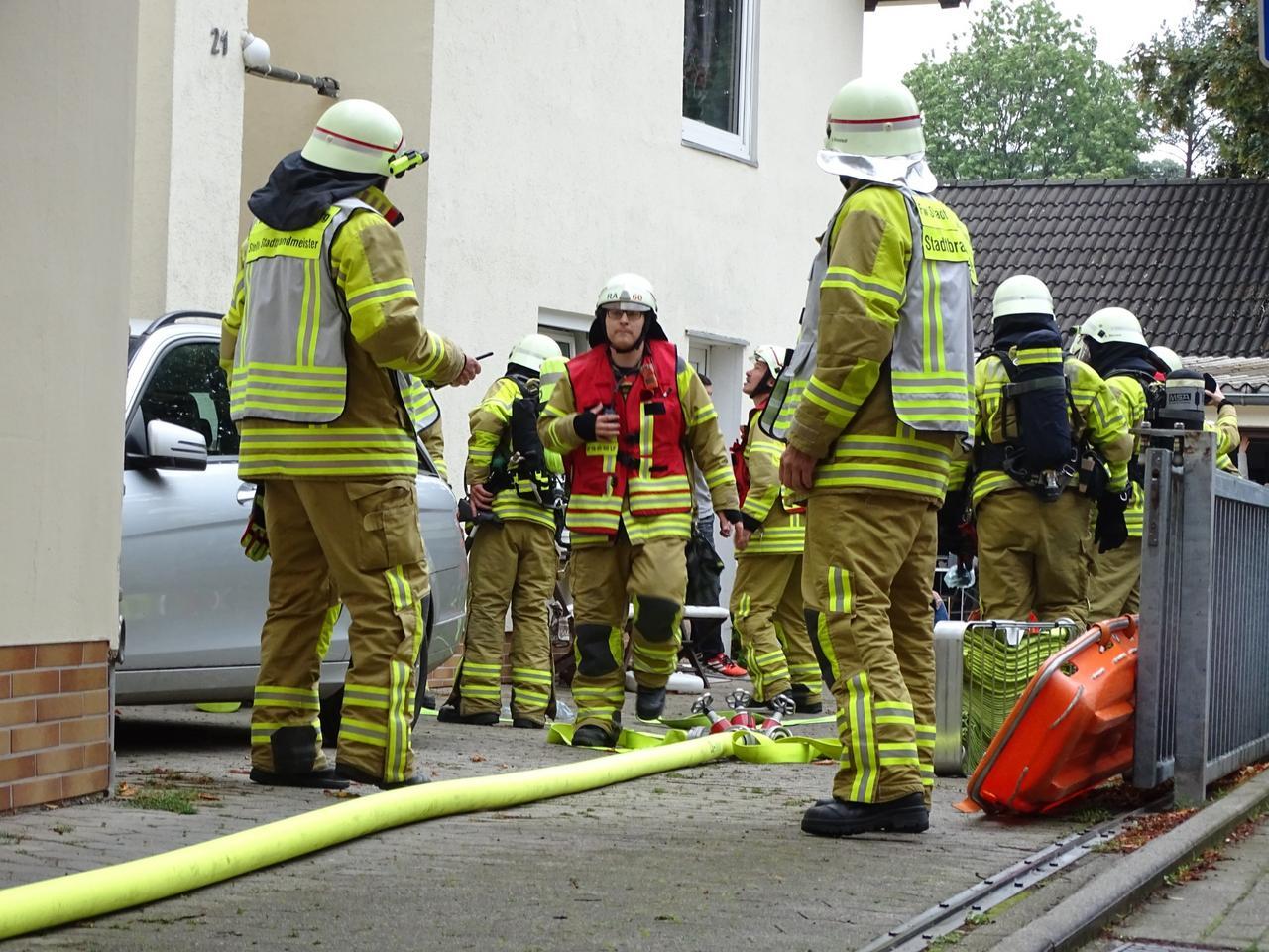 Feuer in der Wilhelmtraße - Küche brennt