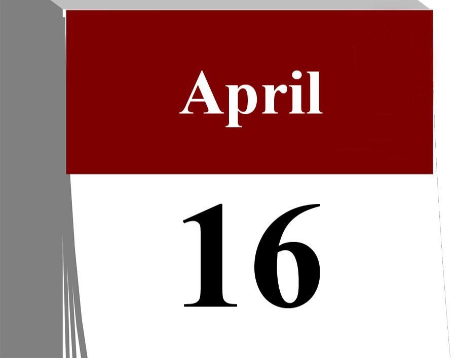 Der 16. April...