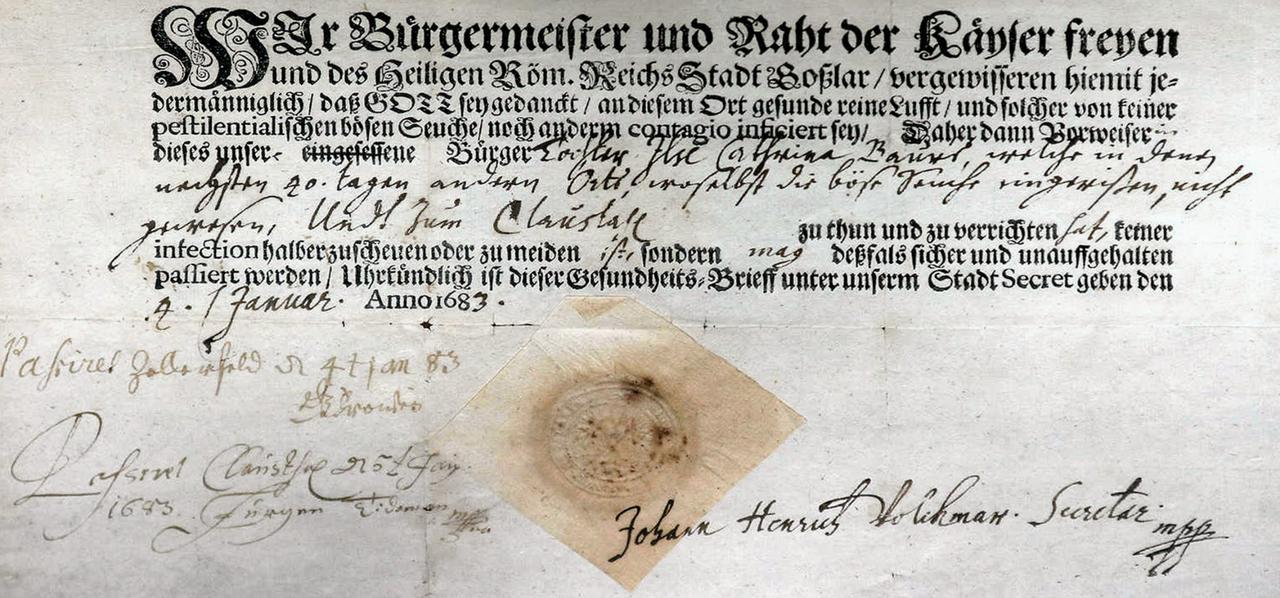 Goslarer Pestbrief kommt unter den Hammer