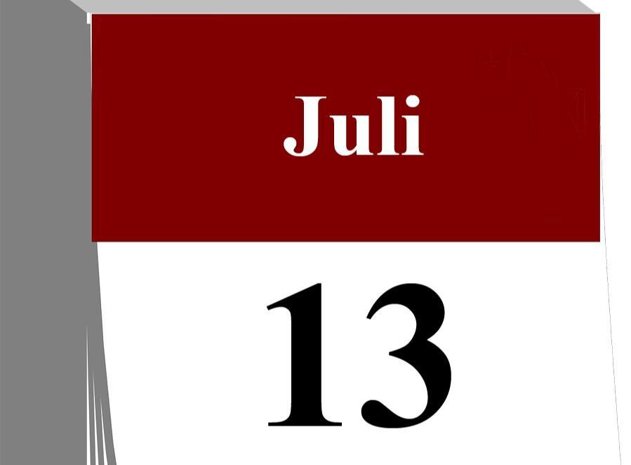 Der 13. Juli...