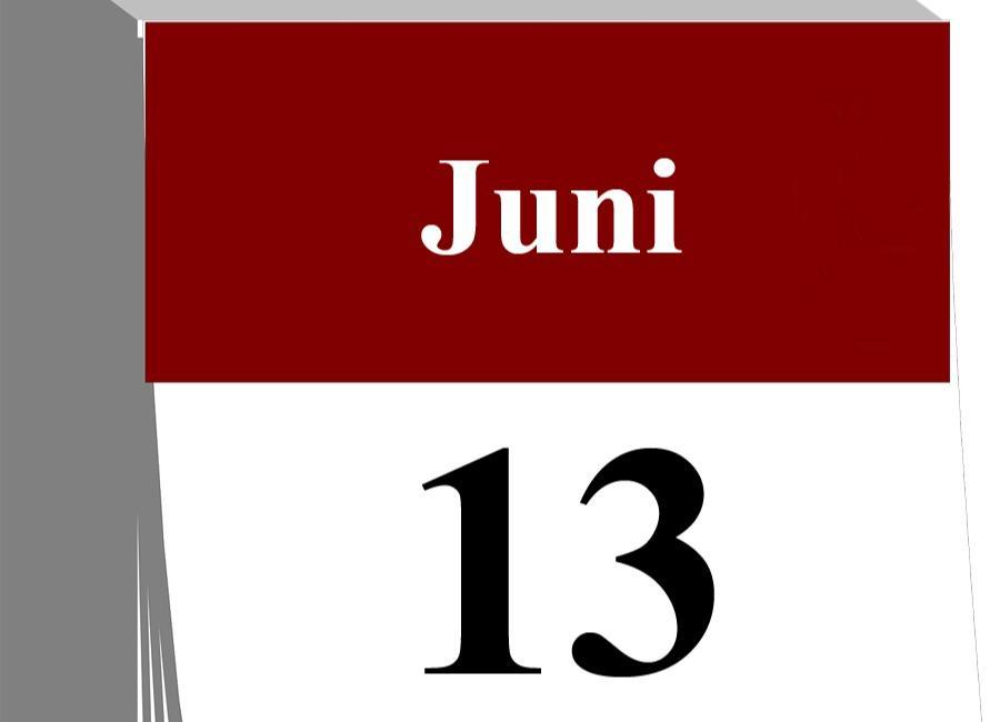 Der 13. Juni...