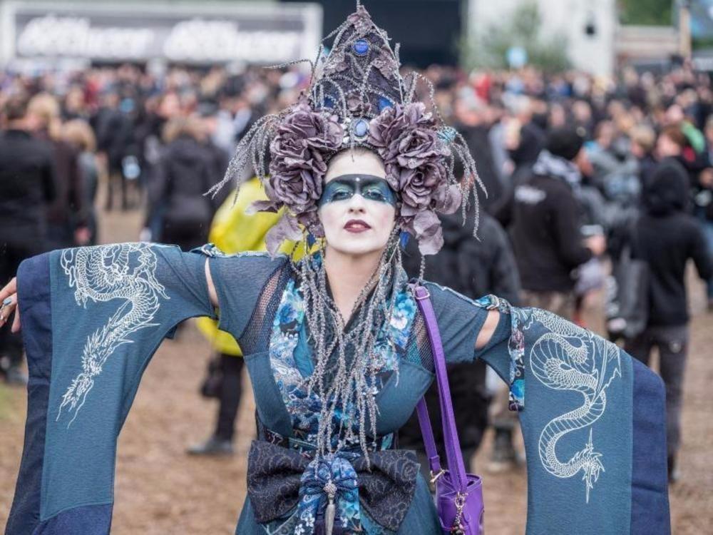 "Gothic-Szene beim Festival ""M'era Luna"""