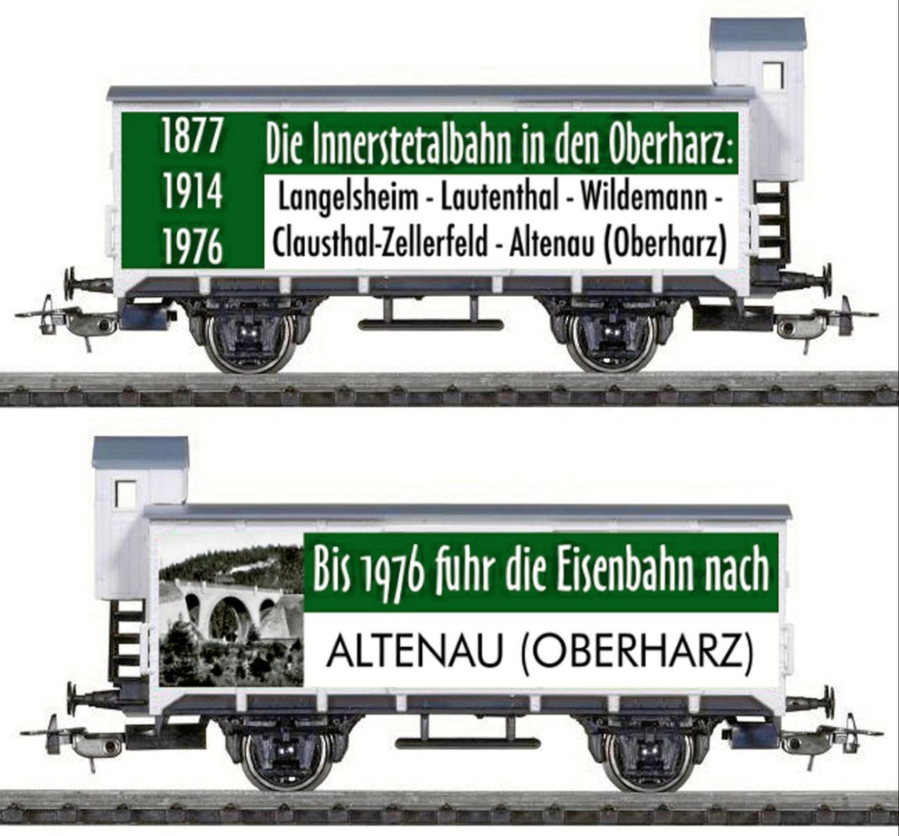 Sonderwagen für die Innerstetalbahn
