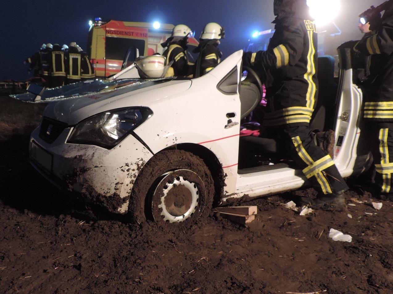 54-Jährige bei Unfall schwer verletzt