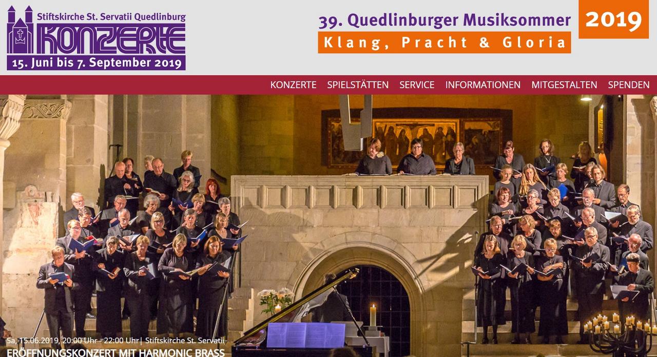 Musiksommer in Quedlinburg startet