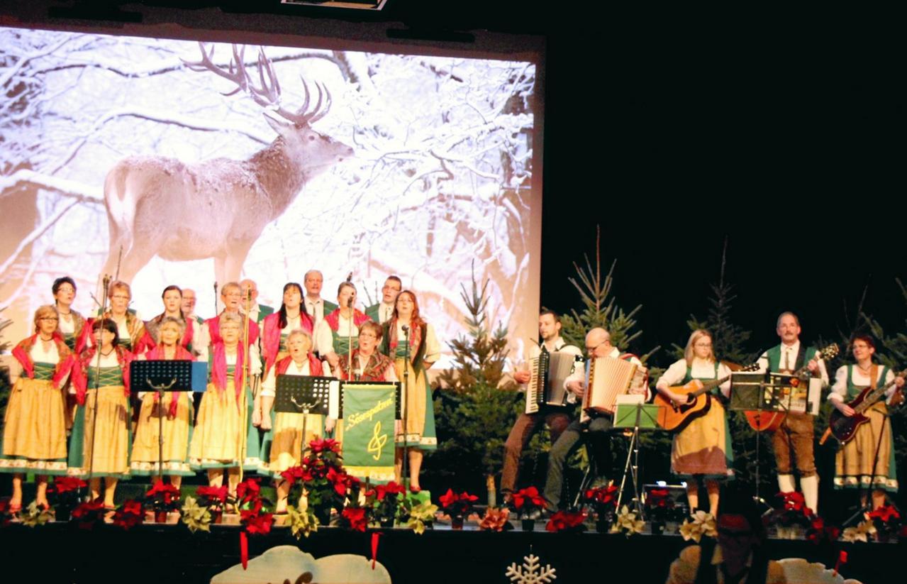 Sösespatzen unterhalten mit Folklore
