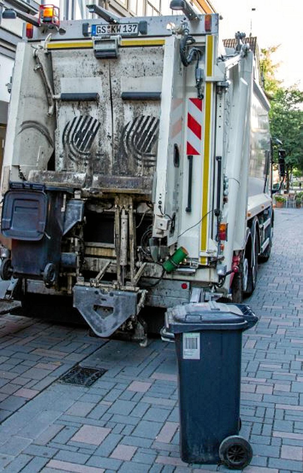 Kleinere Mülltonne ist nicht erlaubt