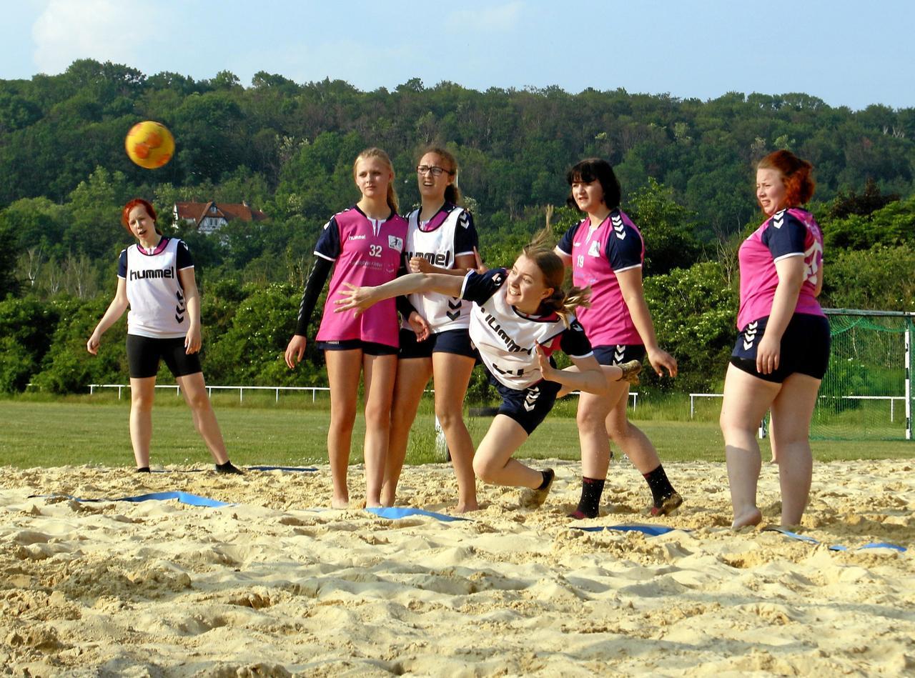 Handball-Nachwuchs schwitzt für großes Ziel