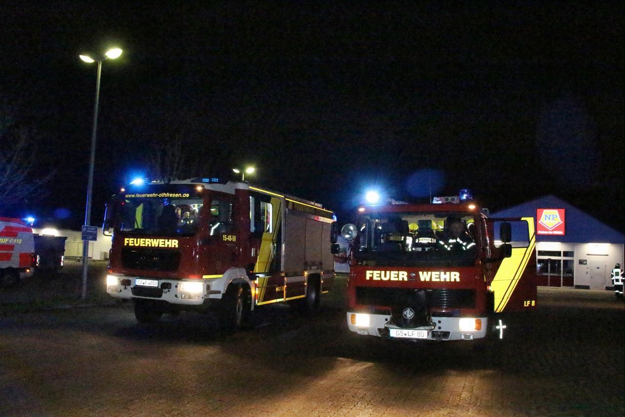 Feuerwehr rückt zum Posthof aus