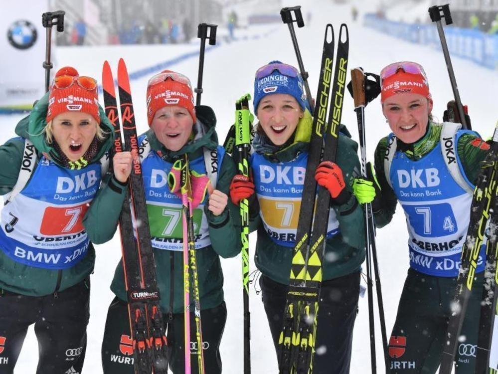 DSV-Damen verpassen Staffelsieg in Oberhof