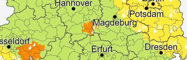 Warnung vor Dauerregen im Harz