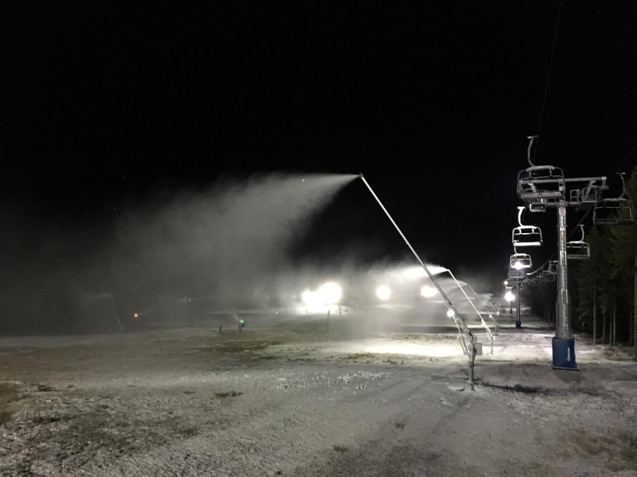 Auf dem Wurmberg wird beschneit