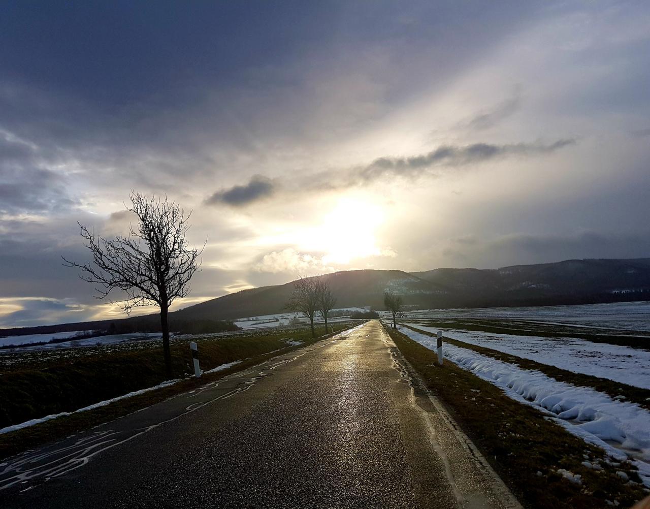 Schnee und Wind bei Minusgraden