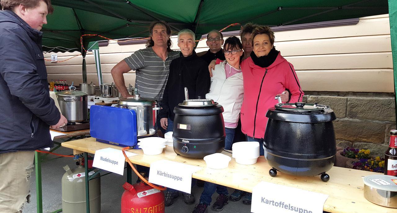 Heiße Suppe für Spendenlauf