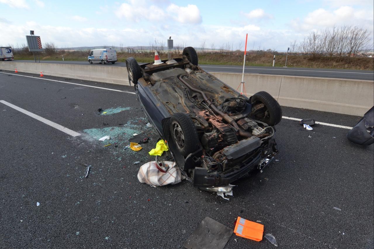 Unfall auf A7: 33-Jähriger schwer verletzt