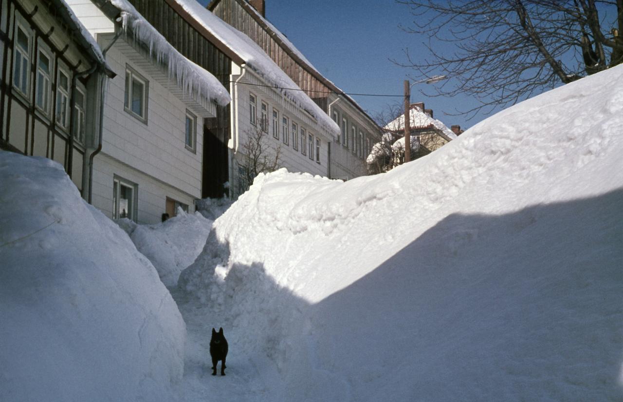 Vor 50 Jahren lag meterhoher Schnee
