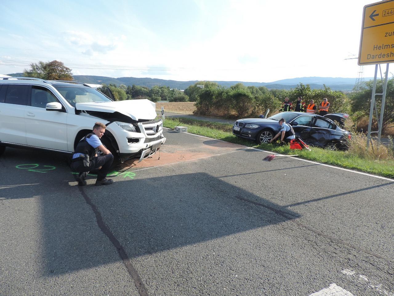 Zwei Verletzte und 60.000 Euro Schaden