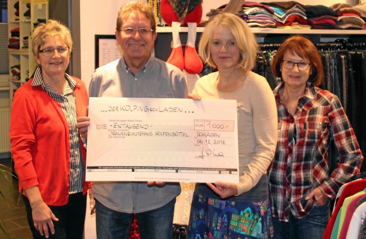 Kolpingladen unterstützt Frauenschutzhaus
