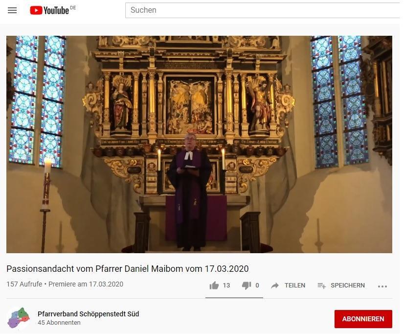 Youtube-Gottesdienste in Schöppenstedt Süd