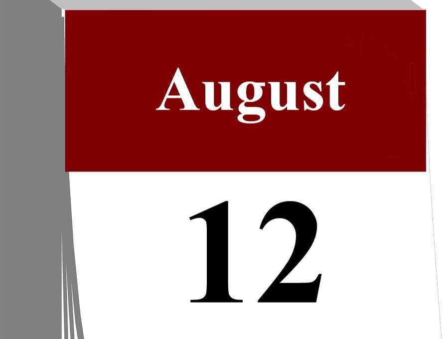Der 12. August...