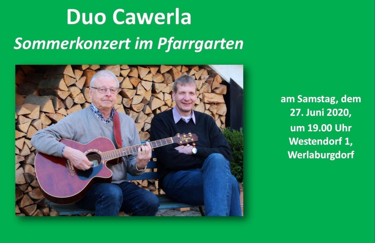 Konzert im Pfarrgarten mit dem Duo Cawerla