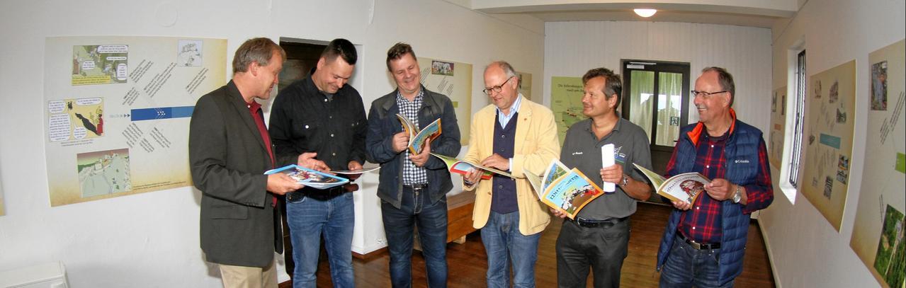 Bergbahn-Museum mit Comics aufgefrischt