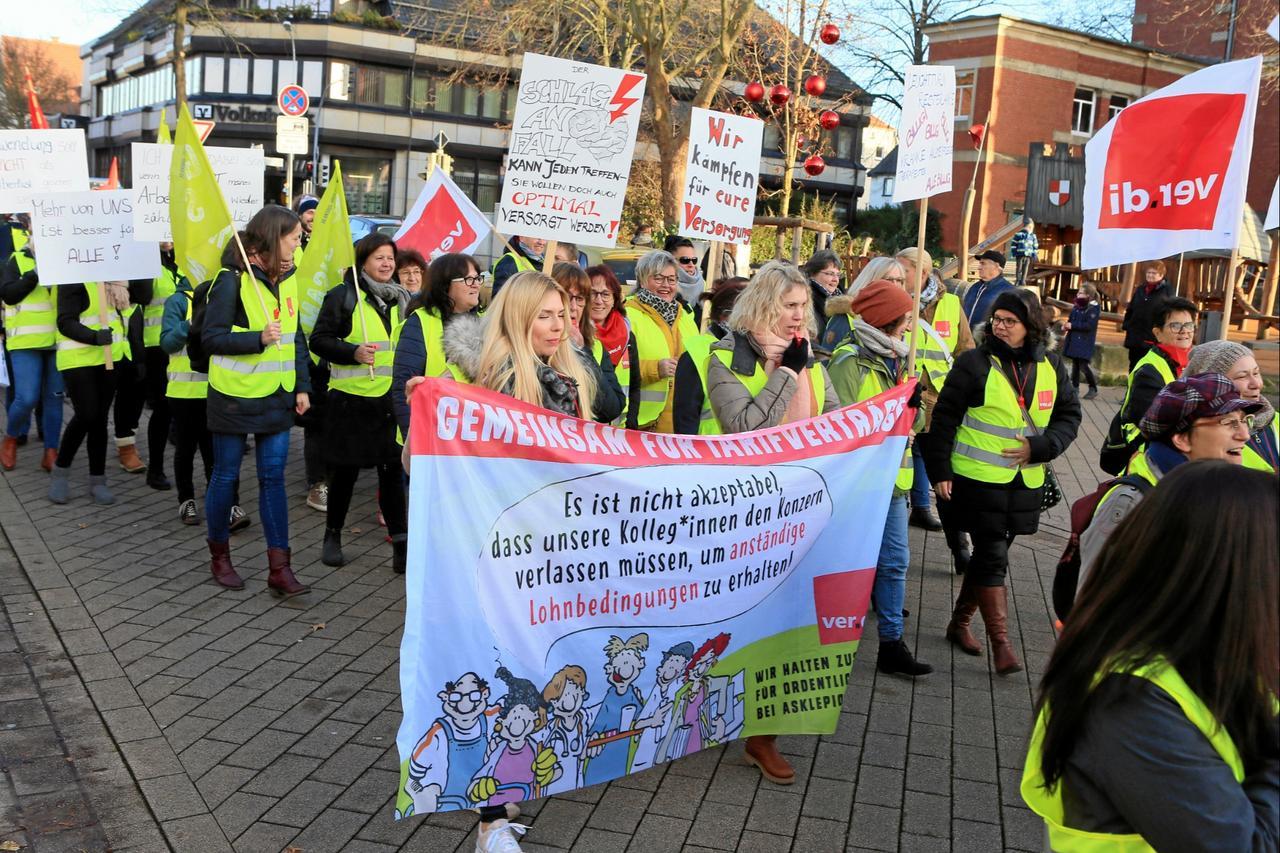 Asklepios-Klinik: Neue Streikwoche