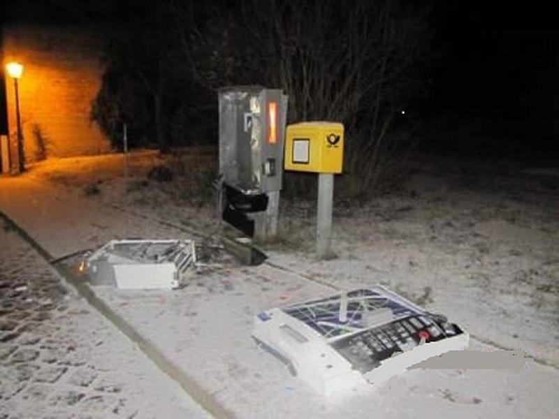 Zigarettenautomat gesprengt