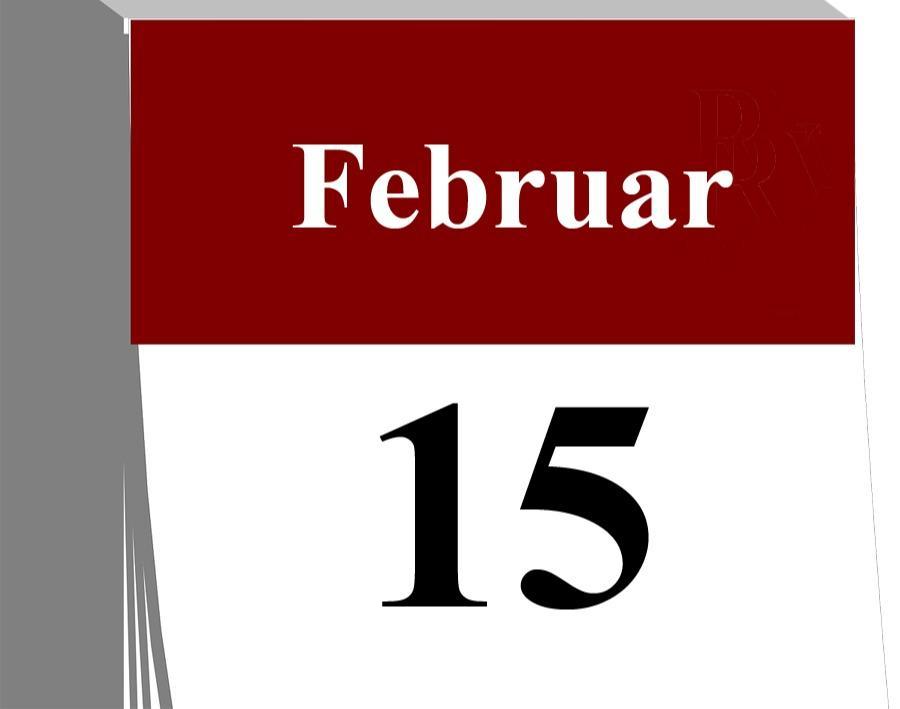 Der 15. Februar...