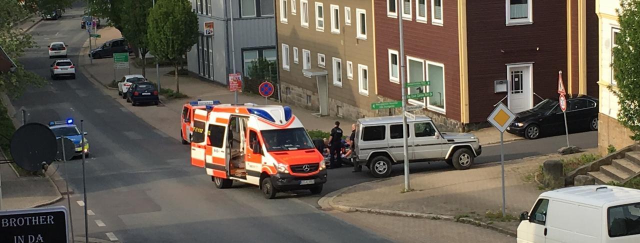 Motorradunfall auf der Osteröder Straße