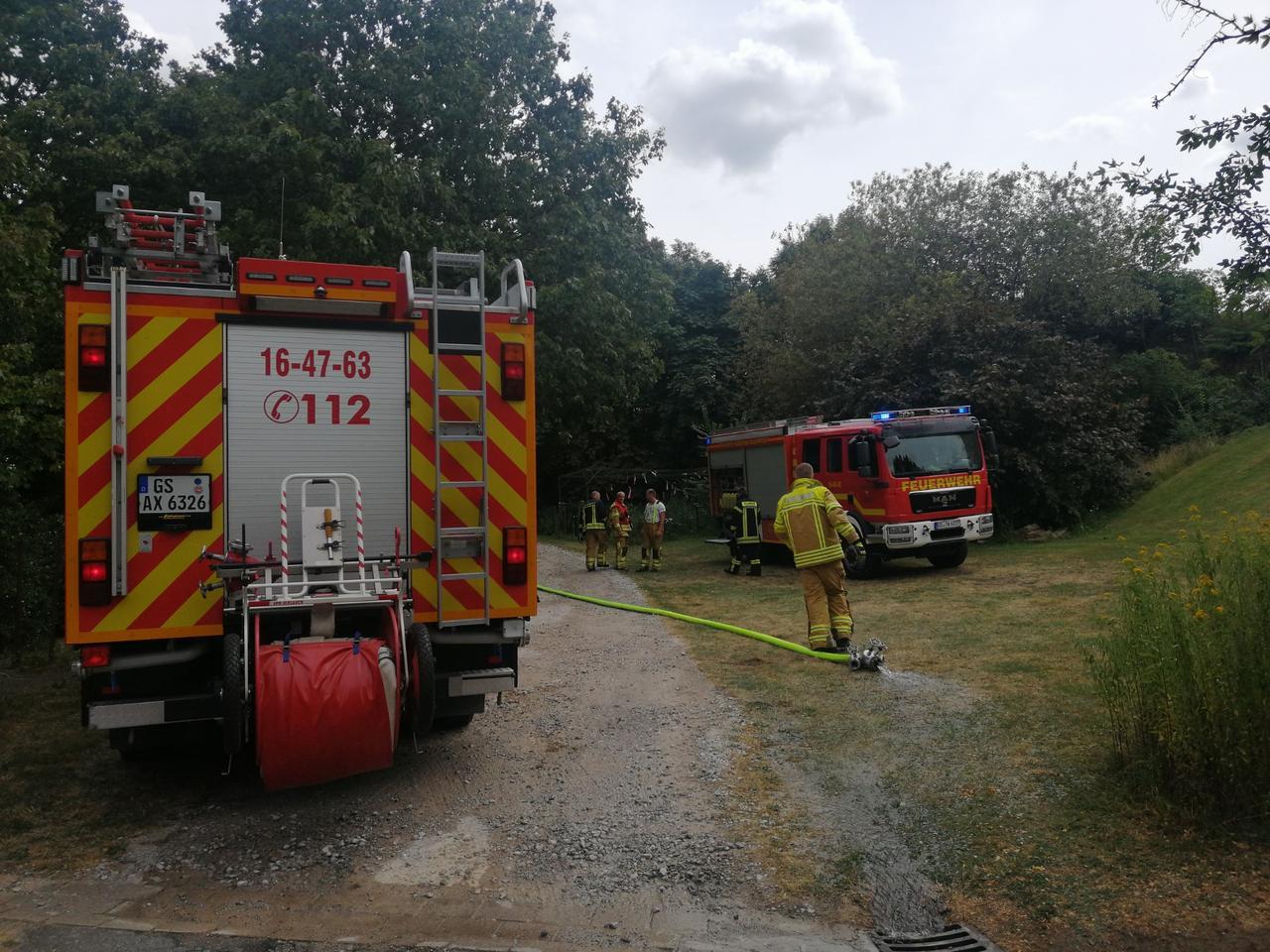 Feuer in der Pfarrer-Hackethal-Straße