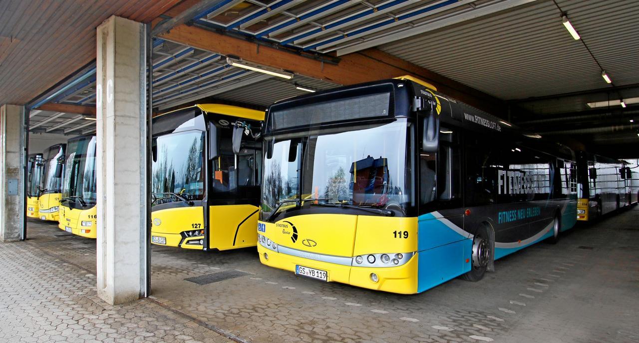 Stadtbusse fahren planmäßig